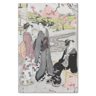 Vintage Japanese Ladies Tissue Paper
