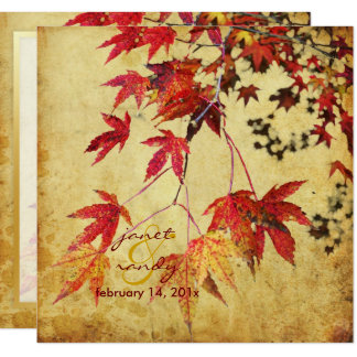 VINTAGE JAPANESE MAPLE/FALL WEDDING INVITATIONS