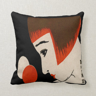 Vintage Japanese Matchbook Cover 1930 Deco Throw Pillow