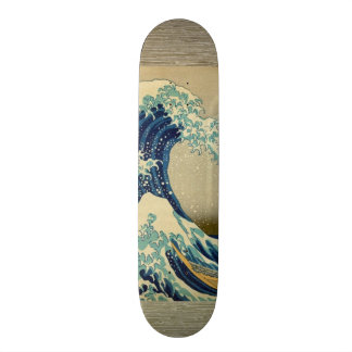 Vintage Japanese Painting Of Great Wave 21.6 Cm Old School Skateboard Deck
