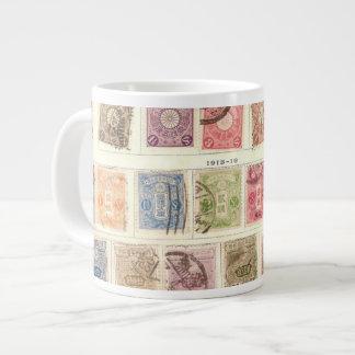 Vintage Japanese Postage Large Coffee Mug