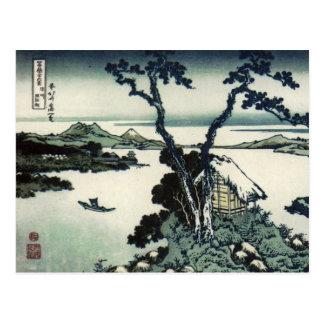 Vintage Japanese Print by Hokusai Postcard