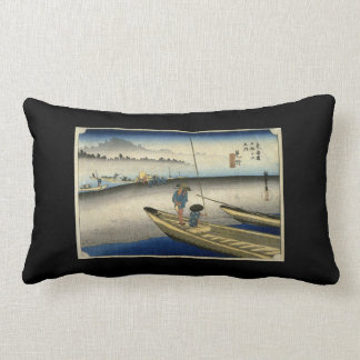 Vintage Japanese Print on a Throw Pillow