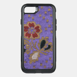 Vintage Japanese Purple Floral Silk Tapestry Art OtterBox Commuter iPhone 8/7 Case