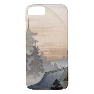 Vintage Japanese Rainbow Temple Art iPhone 8/7 Case