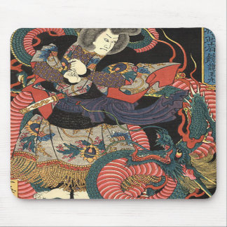 Vintage Japanese Red Dragon Mousepads