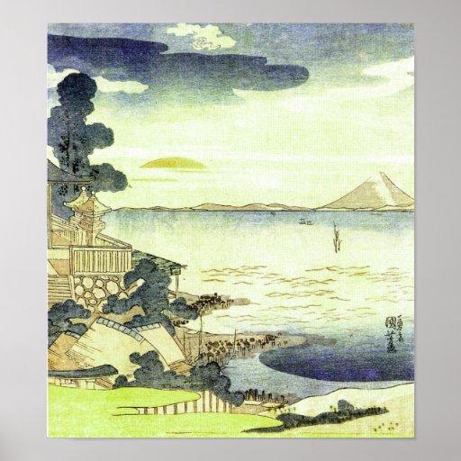 Vintage Japanese Sea Scene Woodblock Ukiyo-e Print