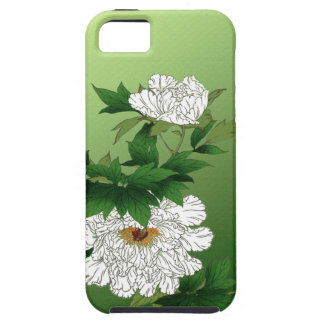 Vintage Japanese Sketch of Large White Peony iPhone 5 Covers