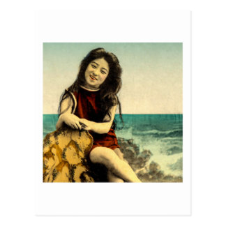 Vintage Japanese Swimsuit Bathing Beach Beauty Postcard