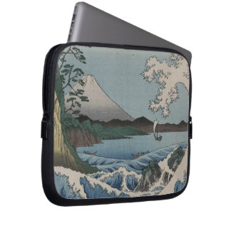 Vintage Japanese The Sea of Satta Laptop Computer Sleeves