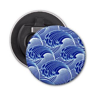 Vintage Japanese Waves, Cobalt Blue and White Bottle Opener
