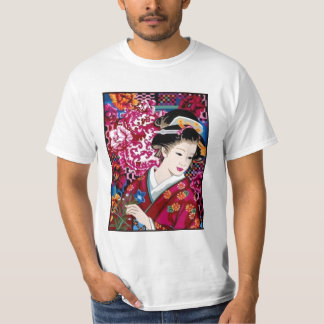 Vintage Japanese Woman in Kimono T-Shirt