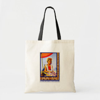 Vintage Java and Bali Indonesia by Railways Canvas Bags