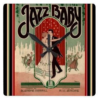 "Vintage ""Jazz Baby"" Sheet Music Wall Clock"