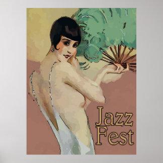 Vintage Jazz Fest Singer Poster