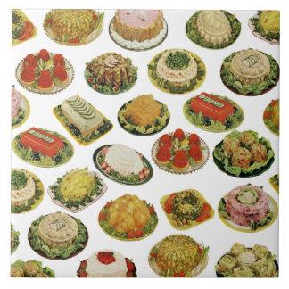 Vintage Jello Salad Molds Kitchen Trivet Tile