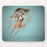 Vintage Jellyfish Mouse Pad