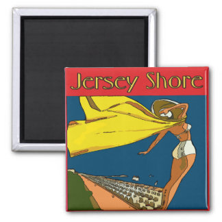 Vintage Jersey Shore Square Magnet