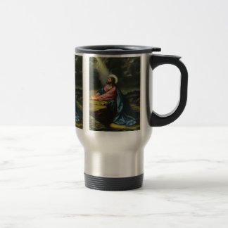 Vintage Jesus Christ Praying in Gethsemane Stainless Steel Travel Mug