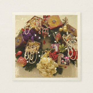 Vintage Jewelry & Gemstone Victorian Wreath Paper Serviettes