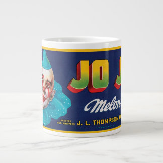 Vintage JO JO Melons Crate Label Large Coffee Mug