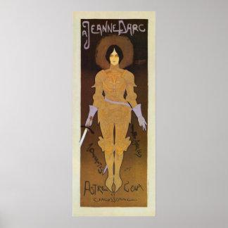 Vintage Joan of Arc store ad vertical banner Poster