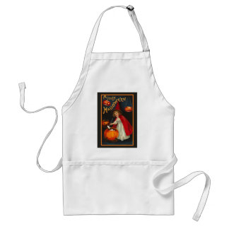 Vintage Jolly Halloween Witch Apron