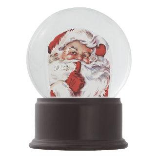 Vintage Jolly Old Santa Shhh Snowglobe