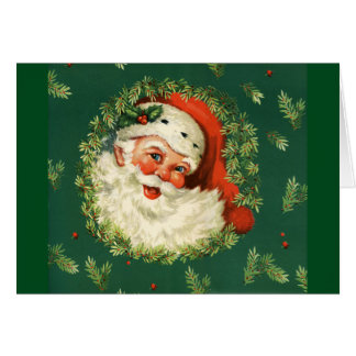 Vintage Jolly Santa Card