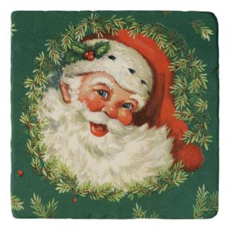 Vintage Jolly Santa Trivet