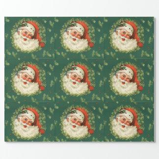 Vintage Jolly Santa Wrapping Paper