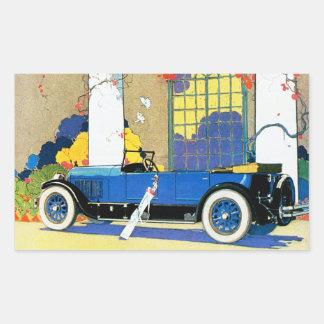 "Vintage Jordan ""Blue Boy"" Automobile Rectangular Sticker"