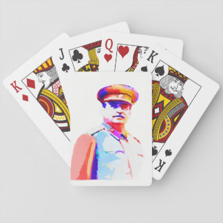 Vintage Joseph Stalin WW2 Russia Dictator Colorful Playing Cards