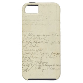 Vintage Journal Handwriting iPhone 5/5S Cover
