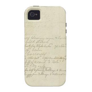 Vintage Journal Handwriting iPhone 4 Covers