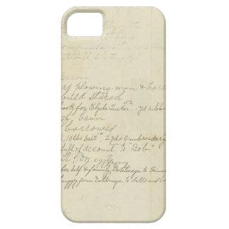 Vintage Journal Handwriting iPhone 5/5S Case