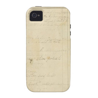 Vintage Journal Page Background iPhone 4/4S Covers