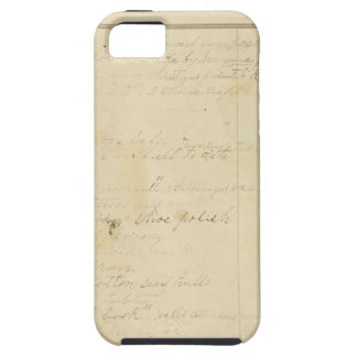 Vintage Journal Page Background iPhone 5/5S Covers