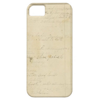 Vintage Journal Page Background iPhone 5 Case