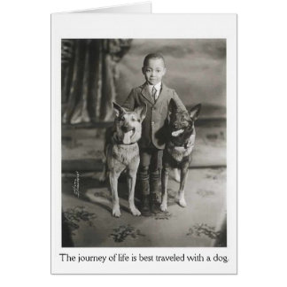 Vintage - Journey of Life with Dogs, Card