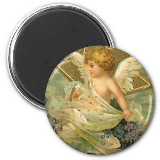 Vintage Joyous Christmas Angel Magnet