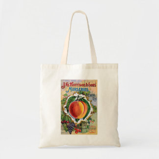 Vintage Juicy Peach Advertisement Tote Bag