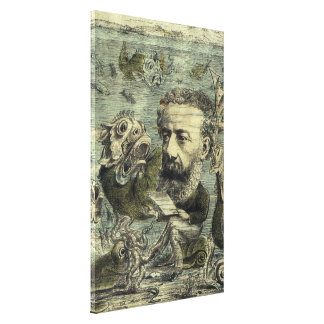 Vintage Jules Verne Periodical Cover Canvas Print