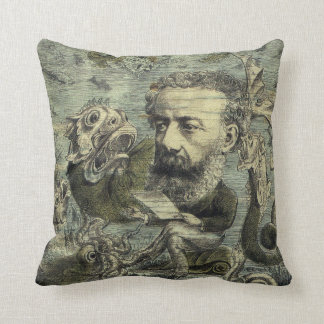 Vintage Jules Verne Periodical Cover Cushion