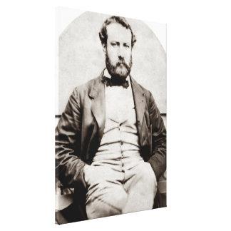 Vintage Jules Verne Portrait Photograph Canvas Print