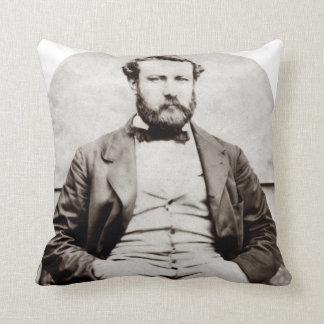 Vintage Jules Verne Portrait Photograph Cushion