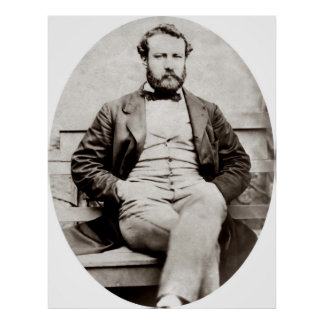 Vintage Jules Verne Portrait Photograph Poster