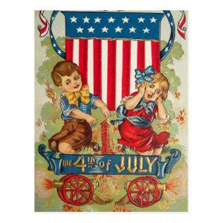 Vintage July 4th Postcard