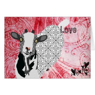 Vintage Junebug Red Love Valentine Greeting Card