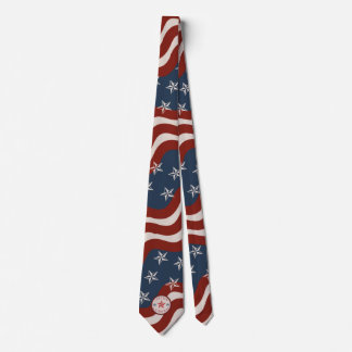 Vintage Justice and Fairness Stars and Stripes Tie